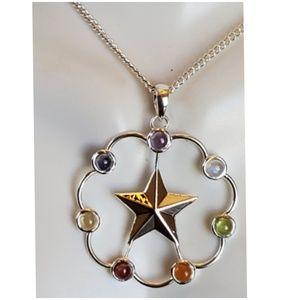 Genuine Gems Healing Star Chakra Necklace